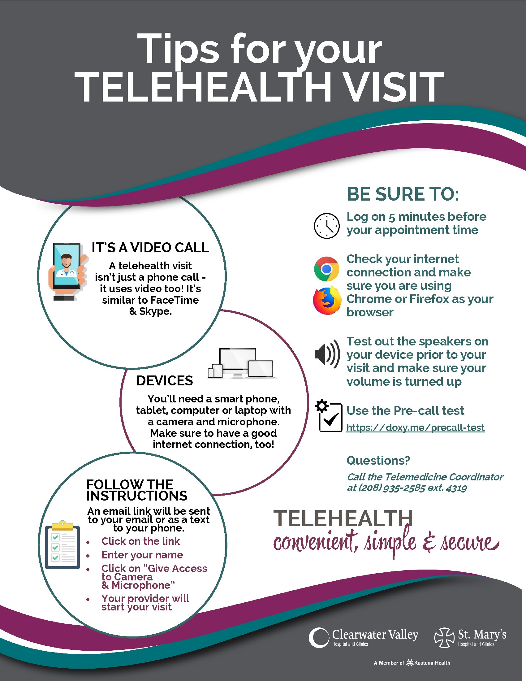 Tips for Telehealth Visit