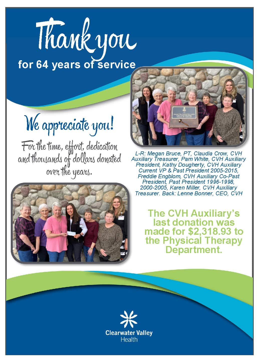 Auxiliary Thank You Ad