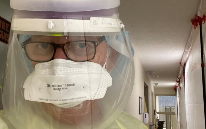 Dr. P in PPE