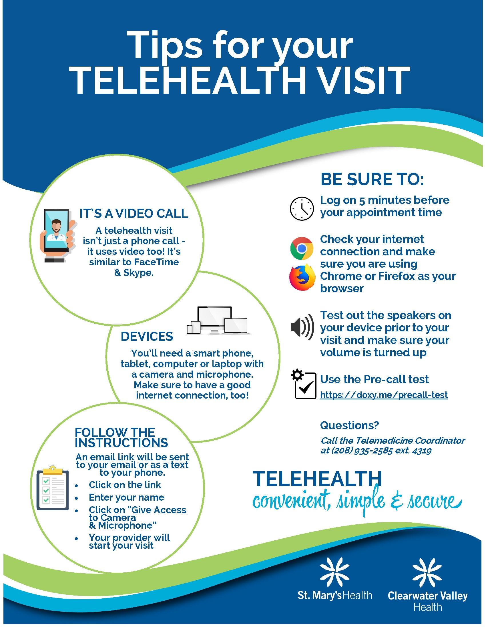 Tips for Telehealth Visit