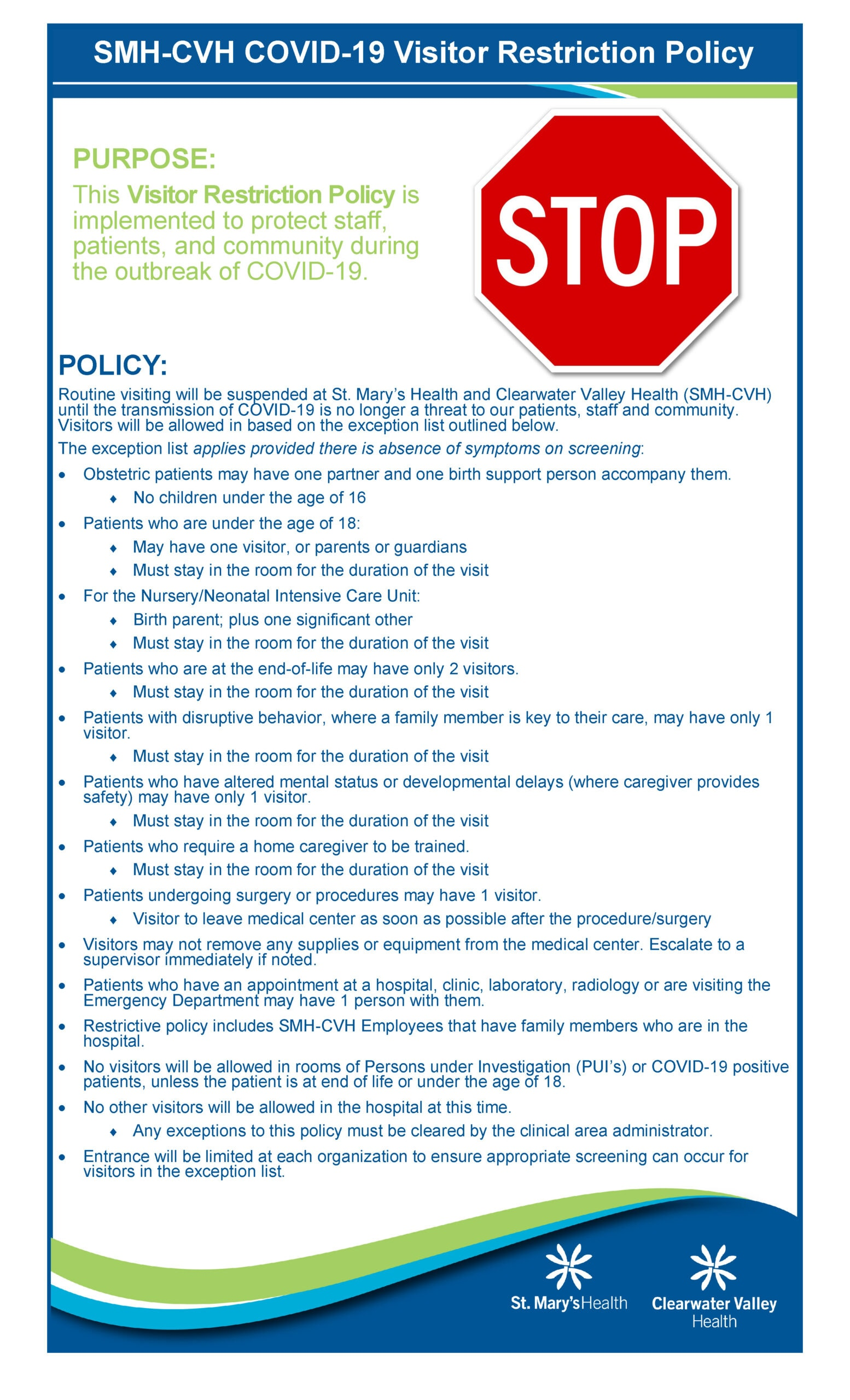 09-13-21 Visitors Policy